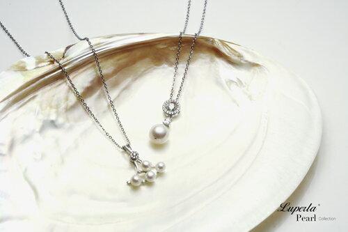大東山珠寶 星眸 日本AKOYA天然海水珍珠純銀晶鑽項鍊 5