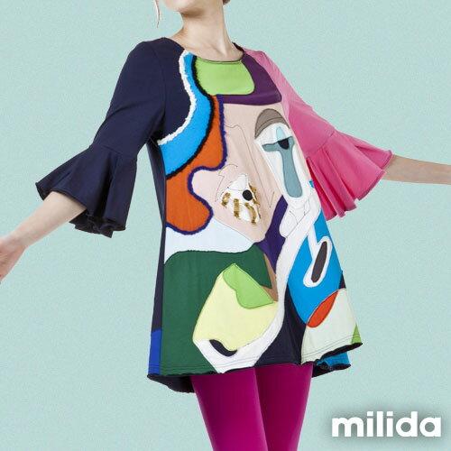【milida】MMRYDP031☆五分喇叭袖甜美洋裝 4