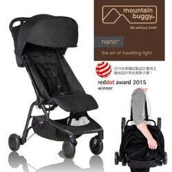 【全新第二代 原廠公司貨】Mountain Buggy nano 2.0 輕巧摺疊推車(黑色 ) 10500元