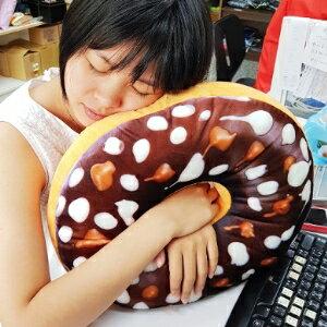 美麗大街【106081518】一般款 超柔創意仿真甜甜圈巧克力大抱枕靠墊辦公室午睡枕生日禮物 睡墊(40公分)