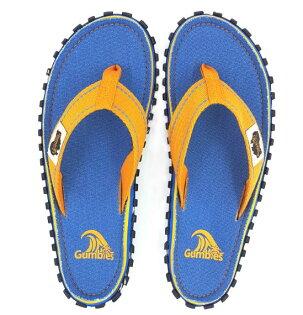 【GUMBIES澳大利亞】人字拖鞋新款夾腳防滑拖鞋居家戶外全功能拖鞋-藍橘020