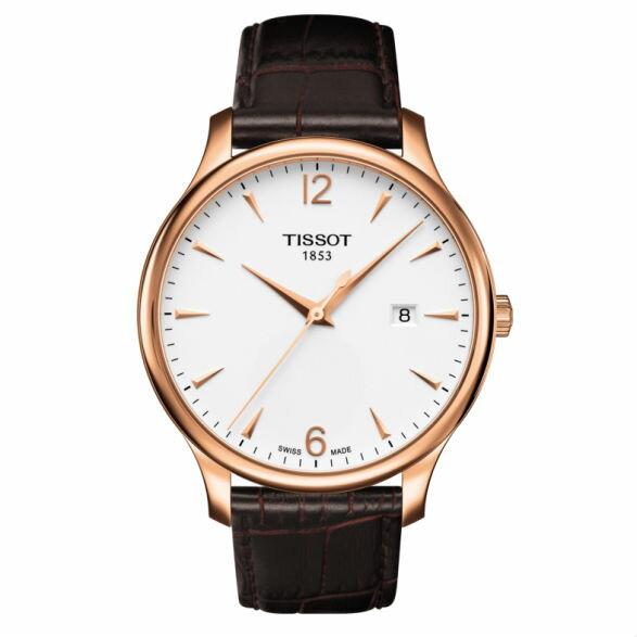 TISSOT天梭T0636103603700Tradition系列經典懷舊時尚腕錶白42mm