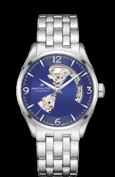 Hamilton 漢米爾頓 JazzMaster OPEN HEART 80小時自動腕錶 H32705141 藍 銀 42mm