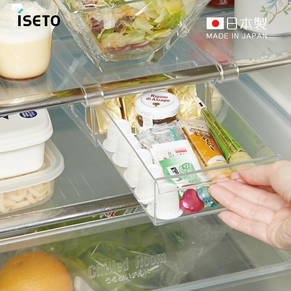 【日本ISETO】日製懸掛式冰箱抽屜儲物盒-寬版