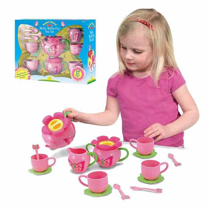 【華森葳兒童教玩具】扮演角系列-蝴蝶花園茶具組 N7-6181