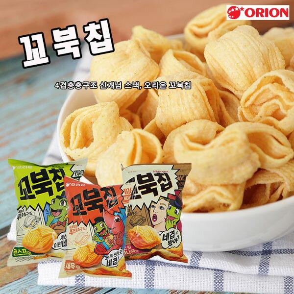 玉米脆菓-韓國ORION好友麗玉米濃湯風味四重脆菓玉米脆果玉米濃湯餅乾80g【庫奇小舖】