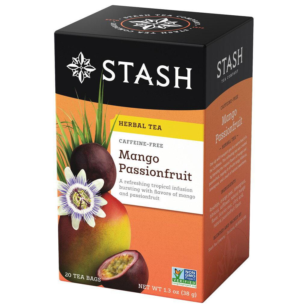 Stash Tea 思達茶 無咖啡因草本芒果百香果茶(1.9gx20袋x盒)
