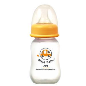 【蜜妮寶貝嬰童用品館】PP葫蘆小奶瓶 (容量: 140ml/4oz 顏色: 橘/綠)