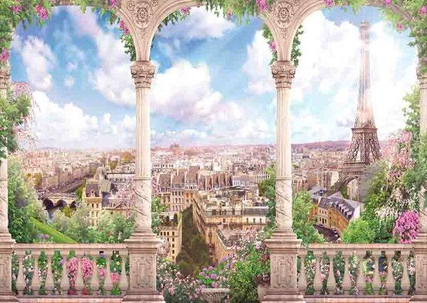 壁紙屋本舖:巴黎景畫MIT風景壁畫客廳壁紙8114