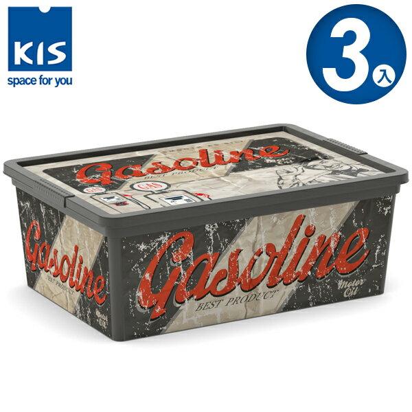 E&J【012003-02】義大利 KIS C BOX 復古車系列收納箱 S 3入;無印風/收納箱/收納盒/玩具收納
