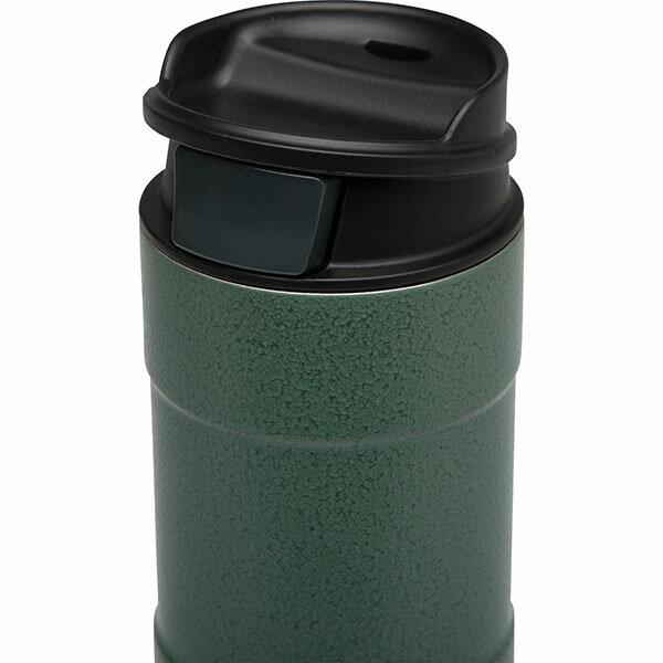 ├登山樂┤ 美國 Stanley 經典系列 單手保溫咖啡杯 0.47L-錘紋綠 # 10-01394-GN 2