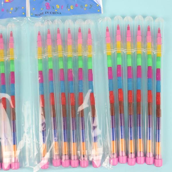 6入彩虹筆一般11節免削色筆(透明無圖)一包6支入{促40}~可接受印刷服務~5926