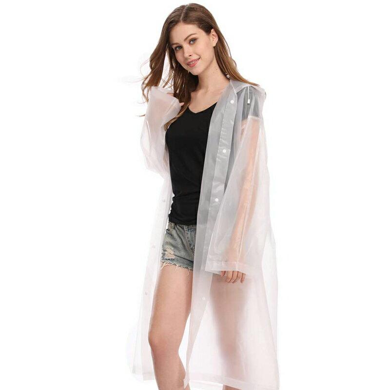 EVA加厚款 成人男生女生雨衣 黑色白色磨砂 半透明 防水 版型修身 優質面料 無異味 戶外雨衣 韓版 雨具 3