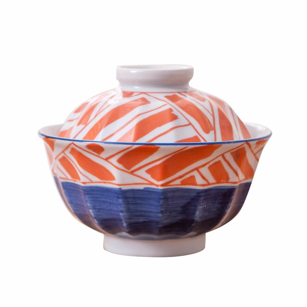 【絕版品最低3折起】青窯手繪幾何附蓋麵碗14cm-生活工場 2
