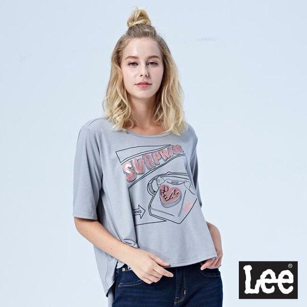Lee前短後長上衣-灰色