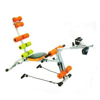 全方位 十功能 腰腹健身機 健美機 HY-29968(送手指按摩器X2) 腳踏健身車 健美擴胸 拉力繩 舉重訓練