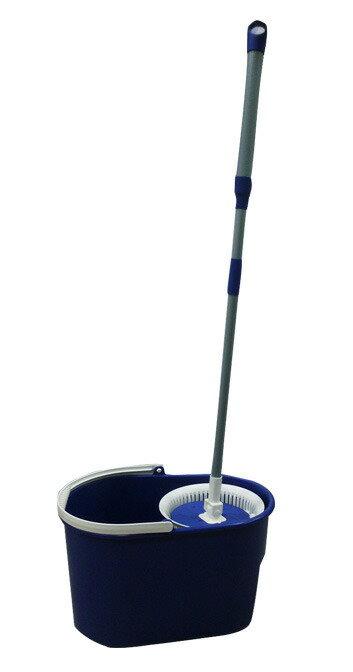 第3代 脫拖樂-丹露 手壓 自動 旋轉 拖把 組-100%台灣製-脫水桶+手壓式桿子+布頭 特價