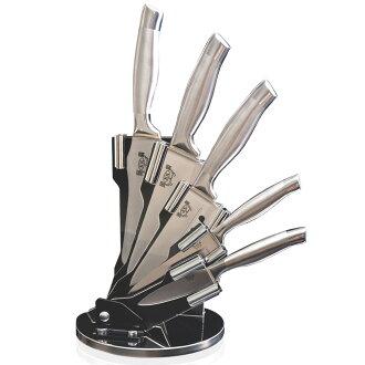 春佰億 固鋼 一體成型醫療級不鏽鋼刀六件組(廚房刀具6件組) 調理刀 料理刀 切片刀 廚刀 水果刀 萬用刀 420刃具級高級鋼材