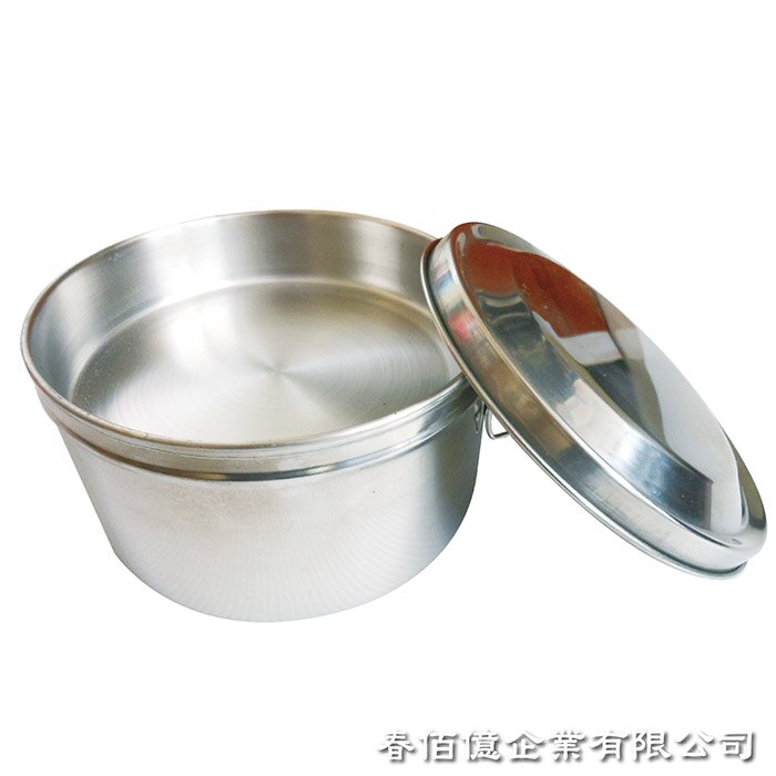 《派樂》正304不鏽鋼圓形雙層便當盒14cm 附菜盤飯盒+贈湯碗湯匙(五件式)│雙扣環│省力好蓋衛生