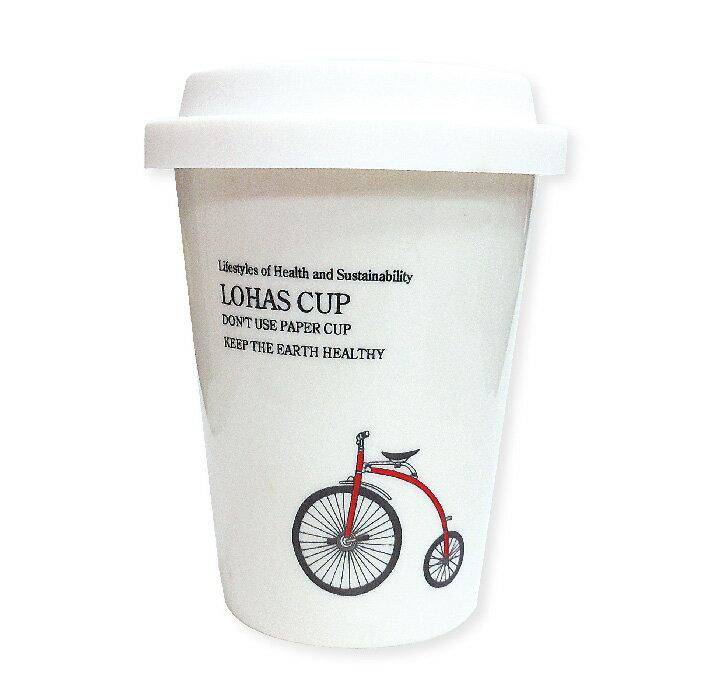 Bella House 雙層隔熱陶瓷杯280ml (1入) 馬克杯 隔熱杯 骨瓷杯 隨手杯 雙層杯 咖啡杯 矽膠隔熱杯套 食品級矽膠