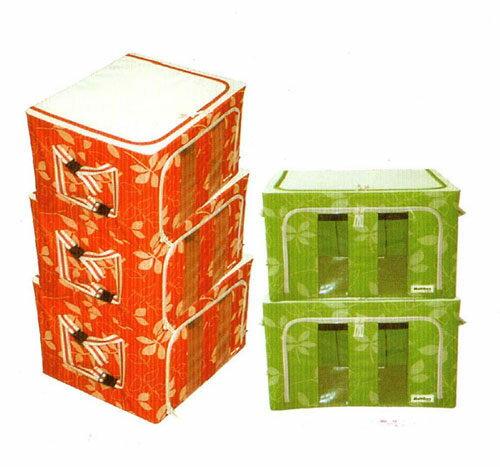 達人推薦 空間魔法師粉彩花草 摺疊 收納箱 整理箱 置物箱 66公升顏色 隨機出貨