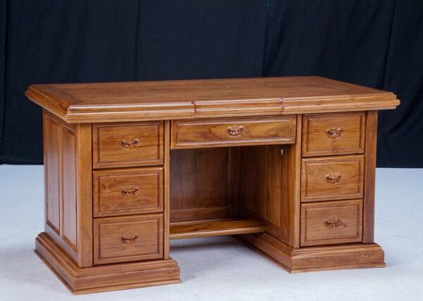 【石川家居】KL-88柚木6.5尺素面辦公桌書桌會議桌寫字桌台中以北搭配車趟免運費