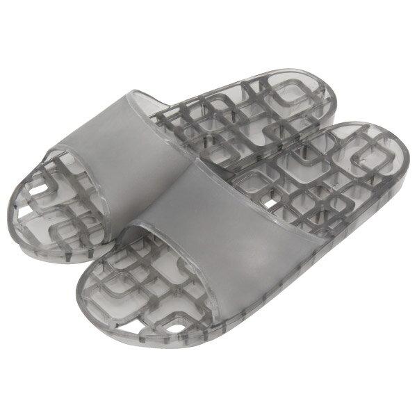 浴室拖鞋74008方格排水黑MNITORI宜得利家居