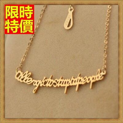 玫瑰金純銀項鍊吊墜-英文字母生日禮物流行飾品71x147【獨家進口】【米蘭精品】