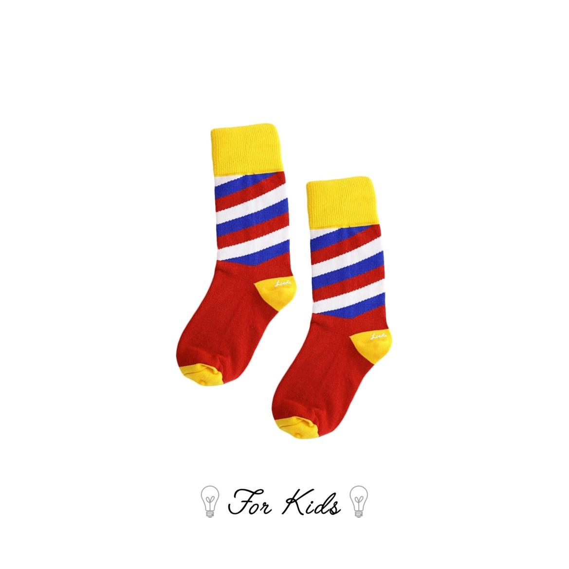 Leeds weather【英國設計】天然純棉孩童襪子★經典斜紋襪子【Cotton Socks Recommendations】- матрёшка ( Vice Versa 系列共8款) 皇室推薦御用童襪、可愛穿搭、透氣舒適