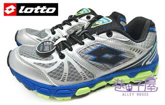 【巷子屋】義大利第一品牌-LOTTO樂得 男款夜銀雙避震慢跑鞋 夜光 [2528] 銀灰 超值價$690