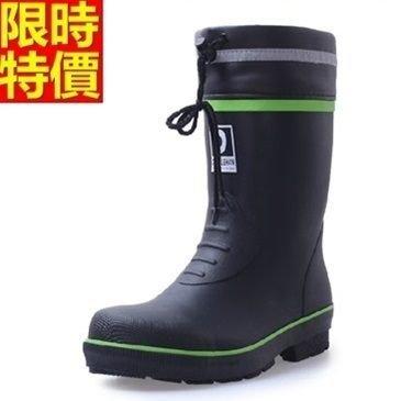 ☆中筒雨靴 雨具 -鋼包頭防砸防碰耐磨安全男雨鞋67a29【零碼出清】【米蘭精品】