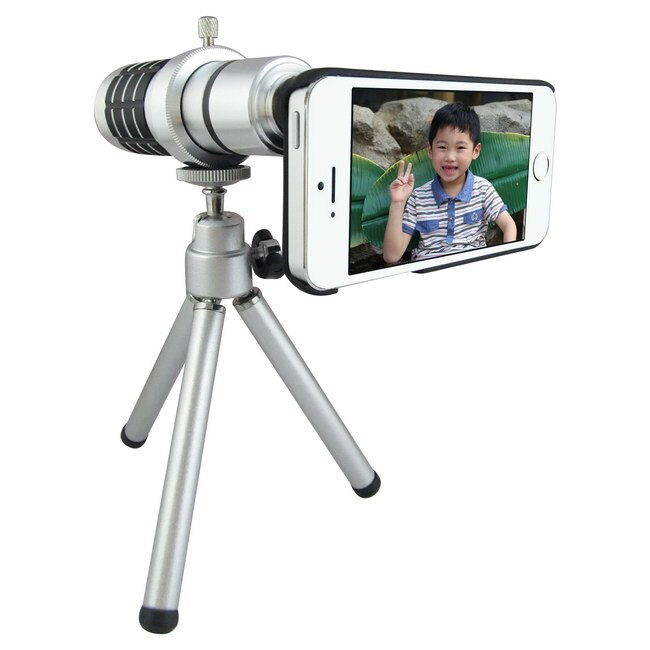 達微超級商城 TS10銀砲管 iphone5S/ 5專用型 望遠鏡頭組(12倍光學變焦)