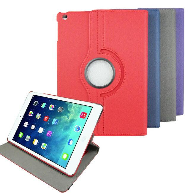 L59斜紋旋轉iPad Air(iPad5)平板皮套(加贈螢幕保護貼)