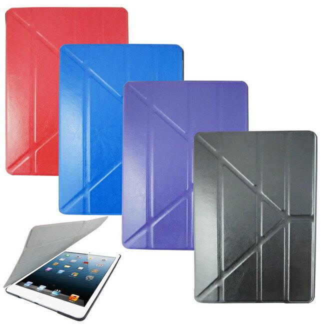 L67瘋馬紋變形金剛iPad Air(iPad5)平板皮套(加贈螢幕保護貼)