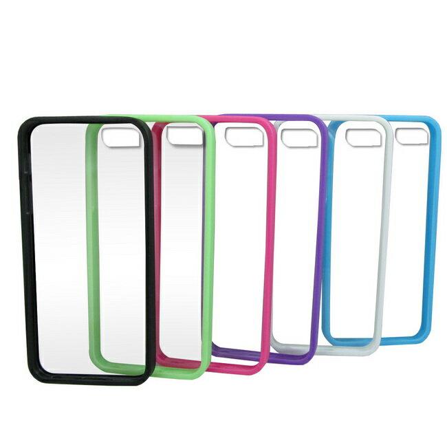 J20S透明背板iphone5S/5保護殼(加贈螢幕保護貼)