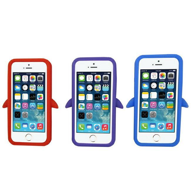 J22企鵝款iphone5/5S手機果凍套(加贈螢幕保護貼)