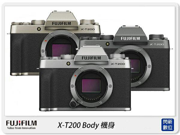 【銀行刷卡金+樂天點數回饋】FUJIFILM 富士 X-T200 Body 機身(XT200,恆昶公司貨)