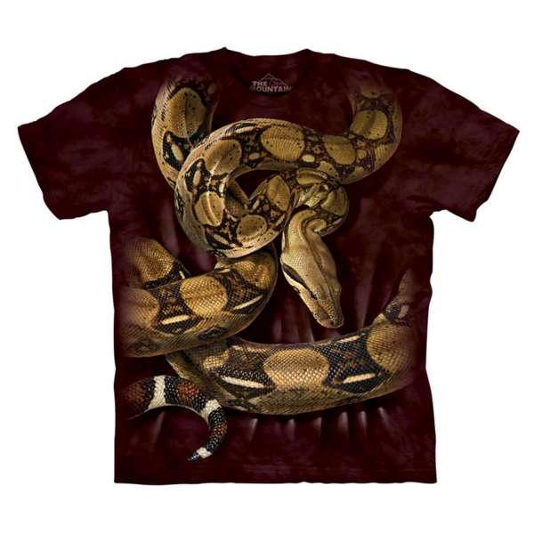 【摩達客】美國進口The Mountain蟒蛇環繞(預購) 純棉環保短袖T恤