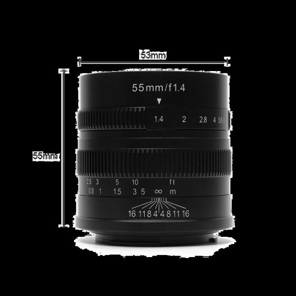 [享樂攝影]七工匠55mmF1.4forCanonEOSMEM黑色微單無反鏡頭手動鏡頭