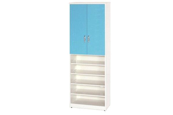 石川家居:【石川家居】880-02(藍白色)鞋櫃(CT-320)#訂製預購款式#環保塑鋼P無毒防霉易清潔