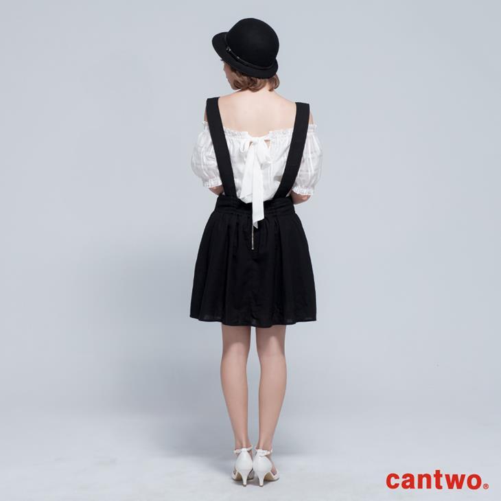 cantwo寬版吊帶短褲裙(共二色) 3