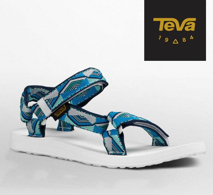 【超值搶購↘原$1680】TEVA |美國| ORIGINAL 原創系列復古款涼鞋 運動涼鞋 女款 金字塔藍/TV1003987PYBL