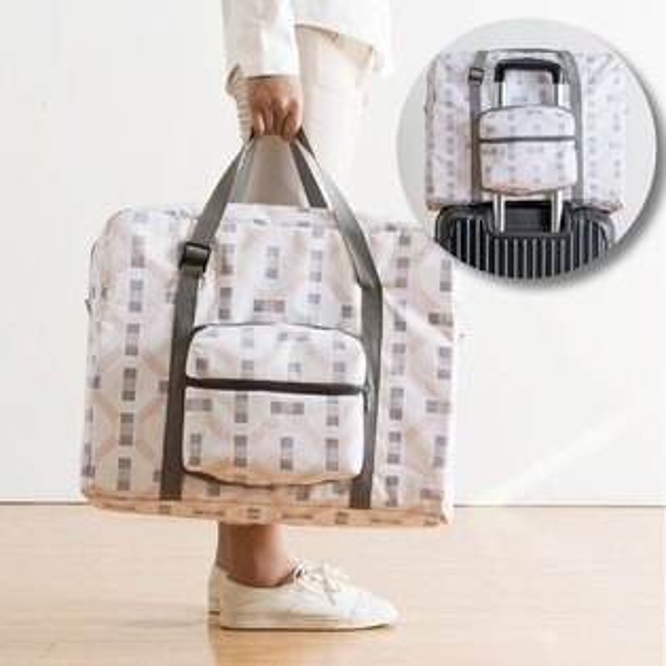 Life365:雅緻系列行李拉桿包可摺疊隨身行李可登機大容量肩背防潑水便攜旅行收納【RB482】