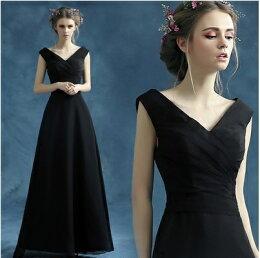 天使嫁衣黑色 修身音樂會長禮服 預購訂製