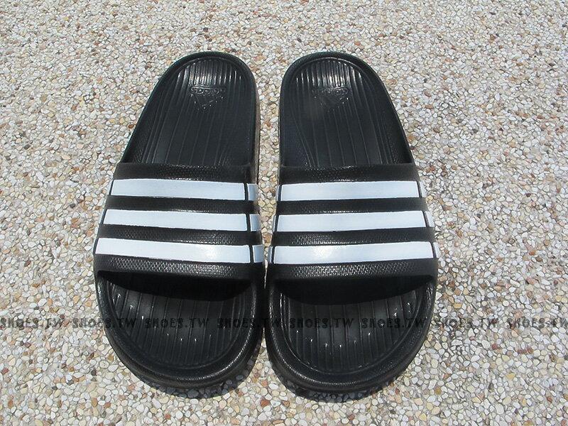 Shoestw【G06799】ADIDAS DURAMO K SLIDE 拖鞋 中大童 一體成型 黑色 1