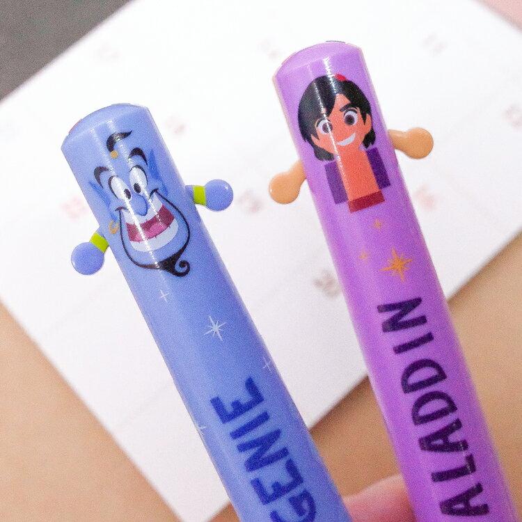 PGS7 日本迪士尼系列商品 - 日貨 迪士尼 阿拉丁 系列 雙色筆 原子筆 神燈精靈【SHJ71257】