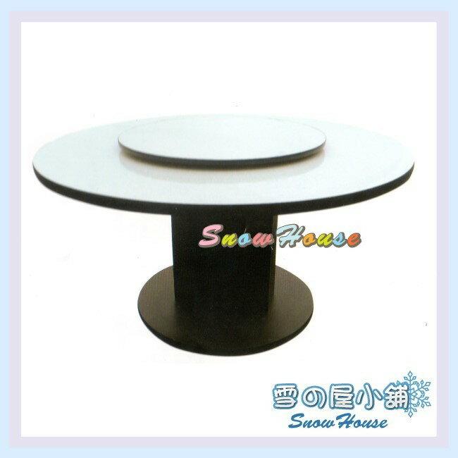 ╭☆雪之屋居家生活館☆╯AA634-12 4尺白碎石圓盤型圓桌(含2.5尺轉盤/DIY自組)