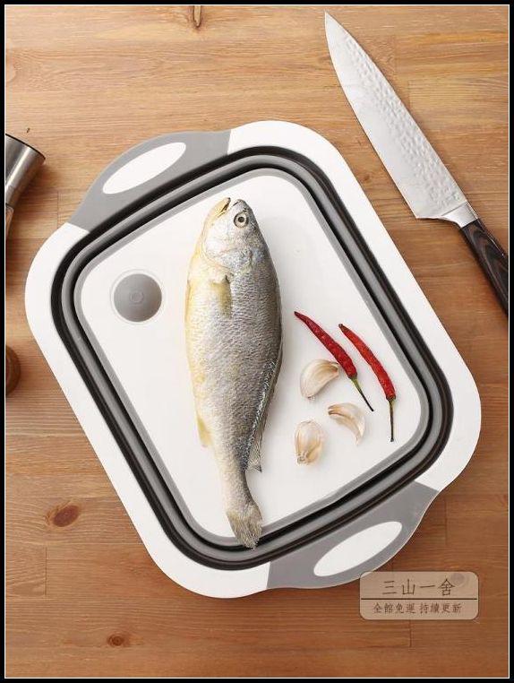 砧板 抖音神器折疊菜板砧板多功能家用切菜板防霉廚房瀝水籃宿舍洗菜盆