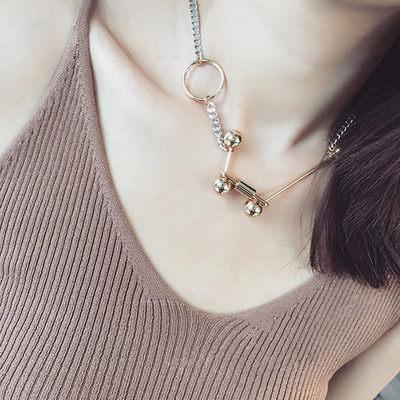 PS Mall 歐美風獨特設計個性潮款鎖頭圓環短款項鍊可當手鍊【G2139】