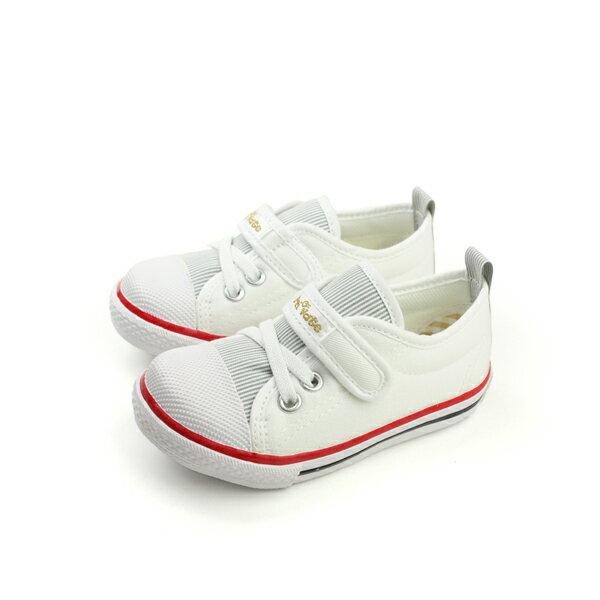 HUMAN PEACE:Private帆布鞋休閒鞋童鞋舒適白色小童P-901-03no211